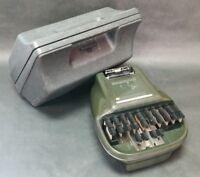 VTG Stenograph Reporter Model Shorthand Machine W/ Case dark green fast shipping