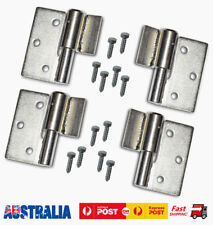Steel Gate Hinge Weld On Heavy Duty Ball Bearing Hinges with Screws Right & Left