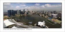 Poster Panorama Singapore Skyline Marina Bay Sands Skypark Panoramic Print