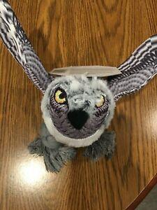 Owl Dog Puppy Realistic Toy Grey