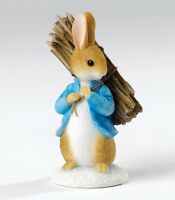 BEATRIX POTTER PETER RABBIT CARRYING STICKS (A26906) MINIATURE FIGURINE (ENESCO)