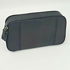 St Johns Bay Black Small Genuine Leather Pouch Clutch Wallet Zipper Hand Bag