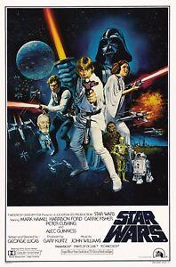 Star Wars 1977 Movie Poster Canvas Wall Art Film Print Sci-Fi 70s Princess Leia