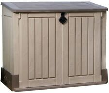 Garden Storage Horizontal Resin Shed Compact Portable Outdoor Chest Organizer