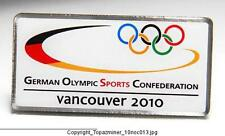OLYMPIC PIN 2010 VANCOUVER CANADA COUNTRY NOC GERMANY