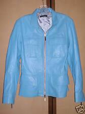Dimagio Jacket Blue Leather Size 2 with Pockets Coat