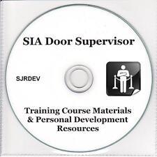 SIA Door Supervisor Security Bouncer Training Materials Exam Resources CD