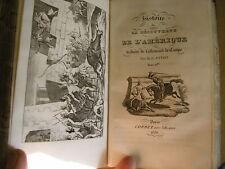 Histoire de la découverte de l'Amérique 1836 gravures 2T en 1 vol gravures
