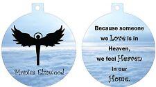 Personalized Ornament custom gift idea Angel in heaven memorial loss remebrance