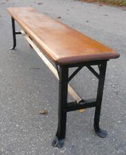 Machine Age Iindustrial 6' Benches Locker Room Shop Loft 30s Wood /Steel 1/24