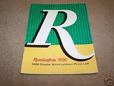 1969 REMINGTON gun bullet catalog