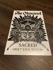 The Obsessed Tour Poster Sacred Pentagram Shrinebuilder Doom Stoner Sleep