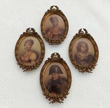 Cadres Miniatures Médaillon Ovale Empire Napoléon