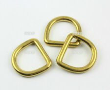 8 Pieces 25mm Solid Brass D Ring For Purse Bag Handbag Strap Dee Ring