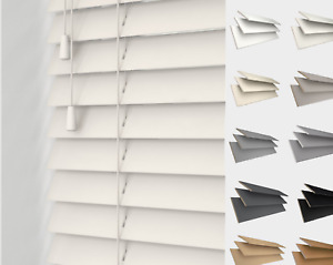 Made to Measure Real Wood Venetian Blind (50mm Slats) Assorted Colours