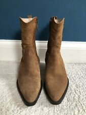 Massimo Dutti Brown Suede Cowboy Boots  - Size 39 (UK 6)