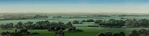 20th c. American PENNSYLVANIA PANORAMIC LANDSCAPE PAINTING Unsigned