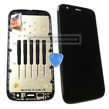 Black Full Unit LCD Display Touch Screen Frame For Motorola Moto G XT1032 XT1033