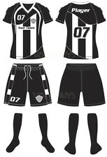 12 CUSTOM MADE SOCCER UNIFORM / SUBLIMATED JERSEY – ADULT SIZES - style 106