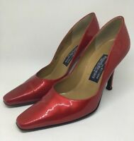 Russell And Bromley Court Heels Red Patent / Stuart Weitzman Size UK 5.5