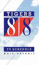 1988 DETROIT TIGERS BASEBALL TV POCKET SCHEDULE