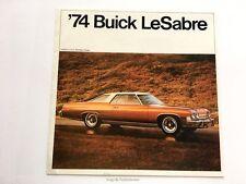 1974 Buick LeSabre Original Car Sales Brochure Folder