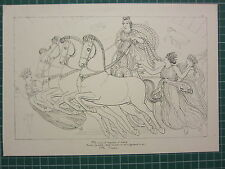 1880 PRINT JOHN FLAXMAN AESCHYLUS MYTHOLOGY ~ THE PERSIANS CHARIOT WOMEN