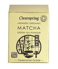 Clearspring organico Giapponese Matcha Green Tea Powder cerimoniali Grade 30g TIN