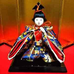 MINT Vintage Japanese Samurai Warrior doll boy sward Plush Figure Emperor doll