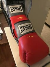 Everlast rPremium Leather Pro Boxing / Thai Style / Mma 16oz Red gloves