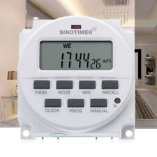 AU! SINOTIMER 12V LCD Digital Programmable Control Timer Switch Power Controller
