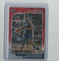 2019/20 Hoops Premium Red Flash Prizm Zion Williamson Rookie Card HOT RC #258