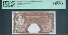 EAST AFRICA 5/- P41a ND(1961-63) PCGS 66 PPQ Gem New