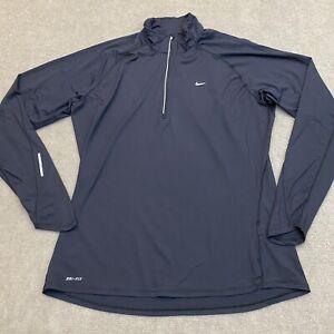 Nike Dri-Fit Women's Black 1/4 Zip Up Running Shirt Size XL Extra Large