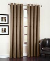 "Sun Zero Room Darkening Energy Efficient Grommet Curtain Panel 54""x 84"" Mocha"