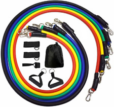 Resistance Bands Set, Workout Bands - with Door Anchor, Handles and Ankle Straps
