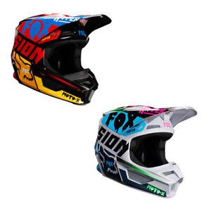 Fox Racing Youth V1 Czar Lightweight Helmet MVRS ABS Shell Massive Vents ECE DOT
