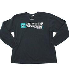 Reebok Men's Long Sleeve Shirt Size Large L NHL SAN JOSE SHARKS Canada Made