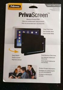 FELLOWES PRIVASCREEN BLACKOUT PRIVACY FILTER FOR  APPLE iPAD 2/3/4 - Easy Attach