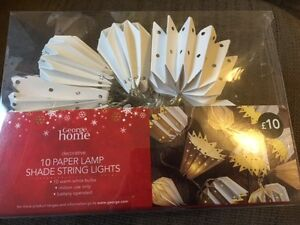 George Home 10 Decorative Paper Lamp Shade String Lights New