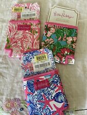 Lilly Pulitzer Drink Hugger Coolie 3 Lot Shells Flamingo
