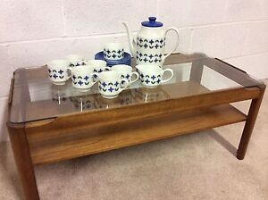 VINTAGE MIDWINTER ROSELLE COMPLETE 15 PIECE COFFEE SET