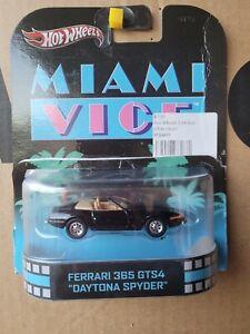 Hot Wheels FERRARI 365 GTS4 DAYTONA SPYDER MIAMI VICE NEAR MINT VHTF CARD OPEN