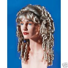 Spiral Curls Wig Ash Blonde Wig Lady Party Dress up Halloween Costume party