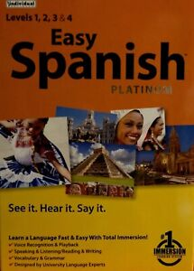 Easy Spanish Platinum Total Immersion, Levels 1,2,3 & 4 See It, Hear It, Say It