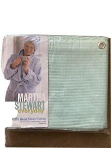 "Martha Stewart Everyday Mint Green Waffle Weave Shower Curtain 70"" W X 72"" L"