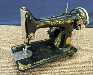 Singer Sewing Machine 1927 99 Portable Electric Motor USA Simanco Antique Parts