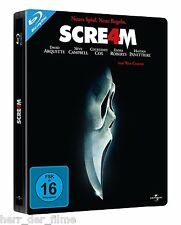 SCREAM 4 (David Arquette, Neve Campbell) Blu-ray Disc, Steelbook NEU+OVP