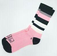 DeFeet SAKO7 Cycling Socks. Pink Striped   Size M