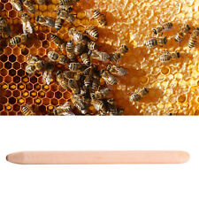 Beekeeping Queen Bee Cell Cup Wood Stick Lure Hive Wax Rod Rearing Tool